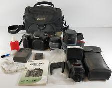 Canon EOS 30D 8.2MP Digital SLR Camera Bag 55-200mm Lens Speedlite 580EX Flash