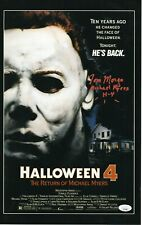 "Tom Morga Autograph Signed 11x17 Photo - Halloween 4 ""Michael Myers"" (JSA COA)"