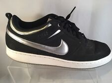 Nike Men's NIKE CONVENTION LOW BASKETBALL SHOES BLACK/METALLIC SILVER/WHITE 12