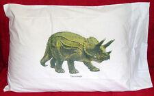 Kids Designer Dinosaur Triceratops Standard Pillowcase Unique Item100% Cotton