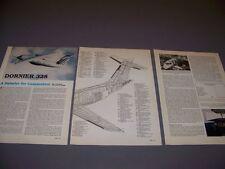 VINTAGE..DORNIER 328..3-VIEWS/CUTAWAY/DETAILS...RARE! (968)