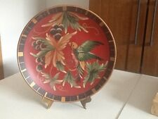 Vintage Hand Painted Collectible Plate with Birds made in China
