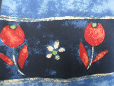 Ex BHS Pale & Dark Blue and Red Flower Design Tie