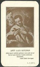 Estampa antigua de San Luis Gonzaga andachtsbild santino holy card santini