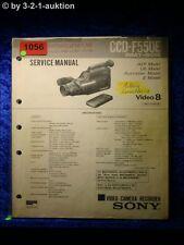 Sony service manual CCD f550e video camera recorder (#1056)