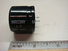 (5) LP221M200E1P3 MALLORY 220uf 200V 105° SNAP IN Electrolytic Capacitor NEW