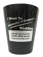 75 New PERSONALIZED SHOT GLASSES Party Wedding Favors Custom Plastic Shots