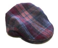 Harris Tweed Plaid Flat Cap Hat - Pastel Pink - Unisex - Bronte Moon