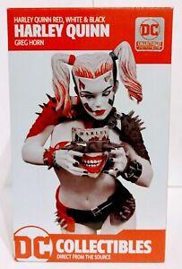 Harley Quinn Red White & Black Metal Harley Greg Horn Statue NIB