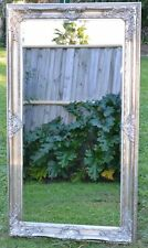 Silver Large Bevelled Wall Mirror & Frame Antique Chic 150cm X 80cm