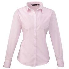 Premier PR300 shirt Women's poplin long sleeve blouse  ladies Plain Work Shirt