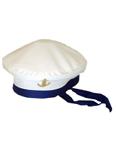Adulti Da Uomo Da Donna Mare Marina militare ha raggiunto l/'apice Marinaio Capitano Cappello Fancy Dress