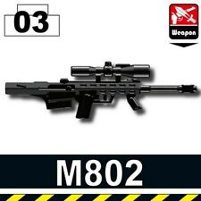 Black M82A Sniper Rifle for LEGO army military brick minifigures