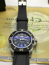 BREITLING SuperOcean II 44 BLACK w/ Rubber 131S Strap A17392 w Box Exc Condition