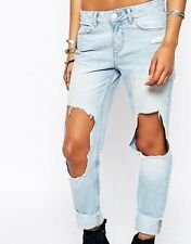 River Island Ultimate Boyfriend Busted Knees Jeans - SIZE US 8