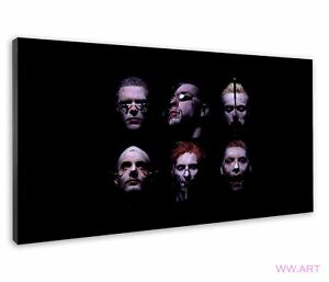 Rammstein Band Six Faces Frankenstein Style Photo Canvas Wall Art Picture Print