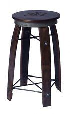 New Custom Swivel Seat Wine Barrel Stave Bar Stool Personalized Solid Wood Iron