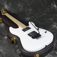 White Charvels  Electric Guitar White Color Floyd Rose Bridge Black Hardware