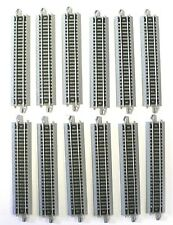 """N Scale Model Railroad Trains Layout Bachmann EZ Track 12 Pieces of 5"""" Straight"""