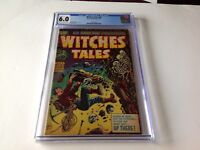 WITCHES TALES 26 CGC 6.0 PRE CODE HORROR SKELETONS ROCK CLIMBING HARVEY COMICS