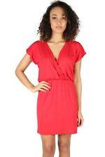 Vestiti da donna tunica rossa con scollo a v
