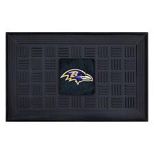 Weather Resistant Black Rectangular Indoor Outdoor Baltimore Ravens Door Mat