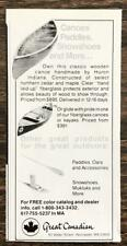 1987 Great Canadian Worcester MA Print Ad Canoes Paddles Snowshoes Mukluks More