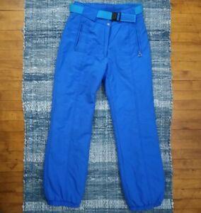 VTG Obermeyer 80/90s Blue Ski Snowboarding Winter Snow Pants Rise Sz S/M 34/33
