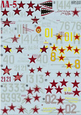 Print Scale 72-011 Decal For La-5, Aircraft 1/72 scale