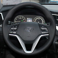 Genuine Leather Steering Wheel Cover for Hyundai Tucson SUV 2016 17 18 Interior