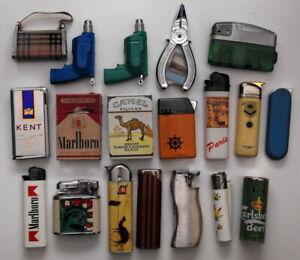 LOTTO 19 ACCENDINI vintage da collezione - collectible vintage lighters