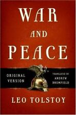 War and Peace: Original Version by Leo Tolstoy {1st Edition/LIKE NEW/FREE SHIP}*