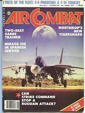 AIR COMBAT Magazine F-4 PHANTOM & F-14 TOMCAT Northrop's TIGERSHARK Nov. 1981