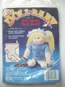 The Original Doll Baby New Vintage Pre-Sewn Martha Nelson Thomas Doll Body