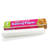 White 5M Parchment Paper Silicone Mat Baking Pad Roll Wax Non Stick Kitchen Tool