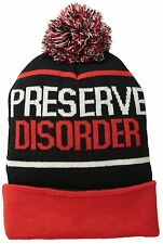 Teen Big Youth Volcom Stoned Preserve Disorder Beanie Cap Winter Hat Size 8-20