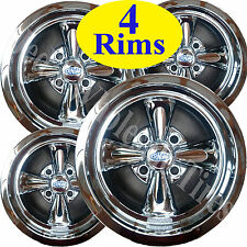 FOUR 12X7 4/4 Cragar Golf Cart Rims Wheels Chrome Aluminum series 410C S/S