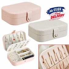 Jewelry Box Jewellery Ornaments Case Leather Travel Organizer Storage Portable