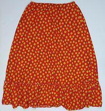 Cotton Floral Prairie Style Skirt Size M Boho Hippie Festival