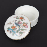 WEDGWOOD TRINKET BOX KUTANI CRANE EXOTIC BIRD  ASIAN ORIENTAL FLOWERS *ENGLAND*