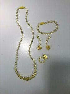 Pretty Pretty Princess Sleeping Beauty Replacement Yellow Jewelry Set 5 Pieces