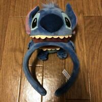 Tokyo Disney Resort Lilo & Stitch  Headband Big Plush Ear Hat Blue and costume