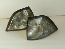 BMW 3 SERIES E36 1990-2000 FRONT INDICATOR PAIR SET SMOKED COUPE / CONVERTIBLE