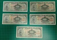 Lot of 5 Mexican 1000 pesos bills banknotes 1971 - 1972 crisp circulated
