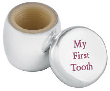 'MY FIRST TOOTH' FAIRY BOX IN PINK ENAMEL STERLING SILVER FROM ARI D NORMAN