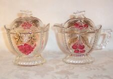 Westmoreland Glass Cherry & Grape Sugar & Creamer