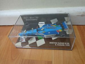 MINICHAMPS 1/43 BENETTON PLAYLIFE B199 GIANCARLO FISICHELLA 1999 F1 CAR USED