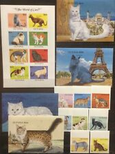 Guyana - Cats on  postage stamps imperf. MNH** YG