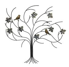 Home & Garden Decoration Metal Wall Art Wall Hanging Tree with Birds