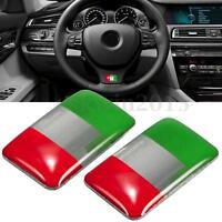 2Pcs Italy Flag Italian Resin Emblem Badge Decal Sticker 18 x 11MM For Auto